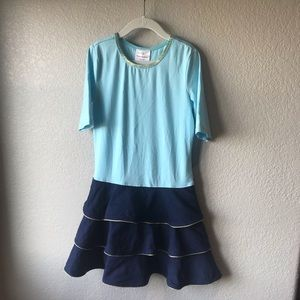 Hanna Andersson blue dress size 8 (130)